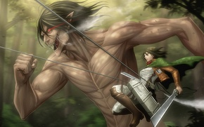 Picture sword, big, anime, ken, blade, asian, giant, manga, colossus, japanese, asiatic, Shingeki no Kyojin, Mikasa …