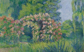 Picture landscape, picture, Blanche Monet, Blanche Hochede-Monet, Giverny. The Rose Garden By Monet