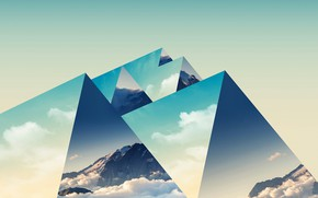 Picture mountains, background, triangles