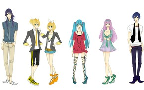 Picture style, anime, art, Vocaloid, Vocaloid, characters