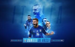 Wallpaper Italy, stadium, sport, Daniele De Rossi, football, wallpaper, Champion, player