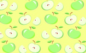 Wallpaper Apple, vector, fruit, food