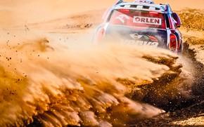 Wallpaper Sand, Mini, Dust, Sport, Desert, Speed, Turn, Race, Skid, Heat, Rally, Rally, Dune, Raid, MINI ...