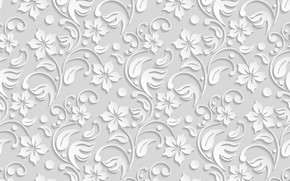 Picture flowers, texture, white, flower, background, pattern