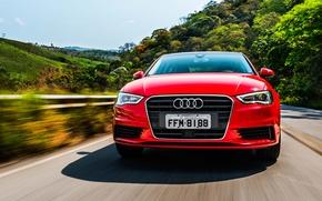 Picture road, face, nature, Audi, Audi, sedan, Sedan