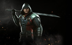 Picture sword, game, Robin, NetherRealm Studios, Injustice 2, Son of Batman, Damian Wayne