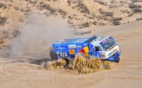 Picture Sand, Smoke, Truck, Race, Master, Russia, 500, Kamaz, Rally, Dakar, Dakar, Rally, KAMAZ, The roads, …