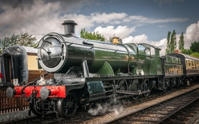 Picture retro, the engine, station, technique, railroad