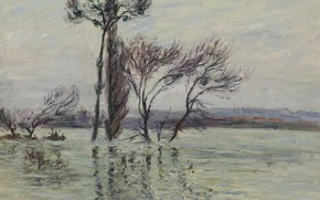 Picture landscape, picture, Gustave Loiseau, Gustave Loiseau, Point Ile Submerged