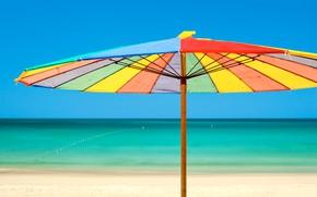 Picture sea, beach, umbrella