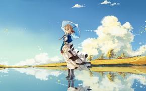 Picture The sky, Girl, Landscape, Violet Evergarden
