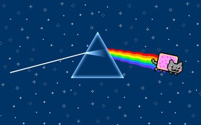 Picture Music, Triangle, Pink Floyd, Art, Prism, Rock, Dark side of the moon, Pink Floyd, Nyan …
