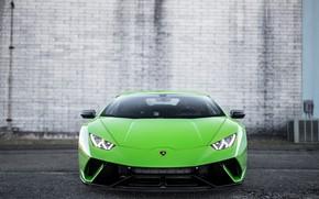 Picture Lamborghini, Green, Front, Italia, VAG, Huracan