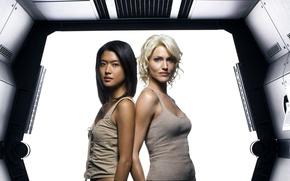 Picture the series, Battlestar Galactica, Tricia Helfer, 2003, Of Tricia Helfer, Battlestar Galaktika, Grace Park, Grace …