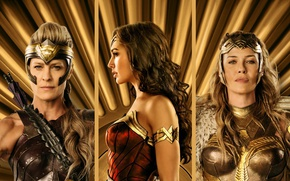 Wallpaper strong, Diana, Hippolyta, Antiope, Connie Nielsen, blonde, queen, Robin Wright, DC Comics, cinema, warrior, film, ...