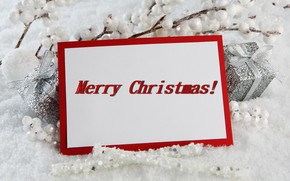 Picture decoration, branches, berries, holiday, balls, new year, gifts, boxes