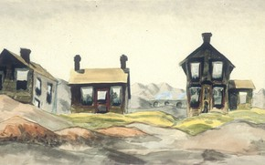 Picture 1918, Charles Ephraim Burchfield, Coke Oven Homes