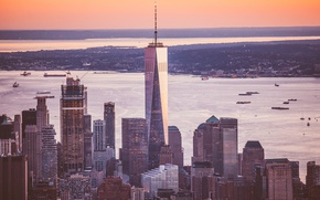 Picture the city, skyscrapers, panorama, megapolis, New York