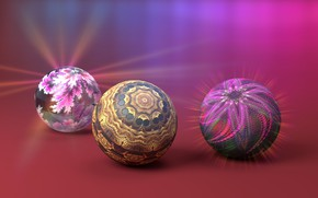 Picture color, circles, background, balls