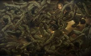 Picture girl, green, Men, KonstantinDverin, twisted