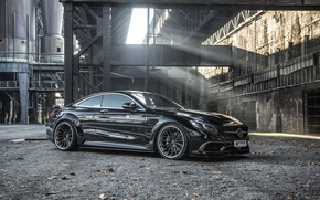 Wallpaper car, machine, Mercedes-Benz, black, gelding, Mercedes, Prior-Design, C217, PD990SC