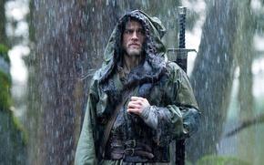 Wallpaper cinema, sword, rain, man, movie, ken, blade, film, king, Charlie Hunnam, hood, King Arthur: Legend ...