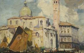 Picture picture, the urban landscape, Arthur Streeton, Palazzo Labia. Venice, Arthur Streeton