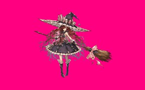 Picture fantasy, game, dress, hat, pink, anime, beautiful, asian, manga, witch, asiatic, mahou, Granblue Fantasy, japonese, …