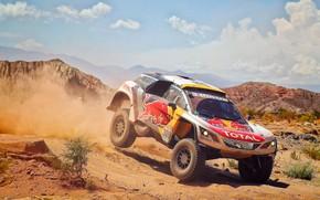 Picture Sand, Auto, Dust, Sport, Machine, Speed, Race, Peugeot, Red Bull, 300, Rally, Dakar, Dakar, SUV, …