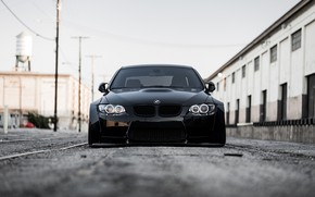 Picture BMW, Front, Black, E92, Face, Sight
