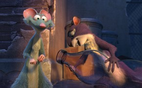 Picture bottle, cartoon, animals, characters, The Nut Job 2
