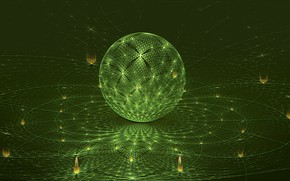 Picture background, ball, green
