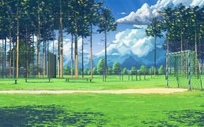 Wallpaper wallpaper, sport, sky, sun, day, football playground
