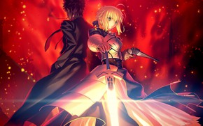 Picture Fate / Grand Order, the saber, art, guy, Fate/Grand Campaign, anime