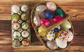 Picture holiday, basket, eggs, Easter, Orthodox holiday
