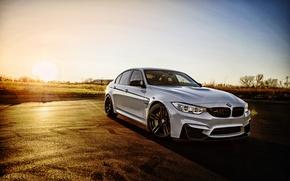 Wallpaper BMW, BMW, F80, white, sedan