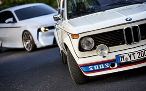 Picture Concept, Auto, Retro, BMW, Machine, Logo, Machine, Two, turbo, 2002, The front, Old, BMW 2002, ...