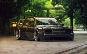 Wallpaper Tuning, by Khyzyl Saleem, Mercedes-Benz, 190E, Future