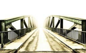 Picture light, bridge, fog