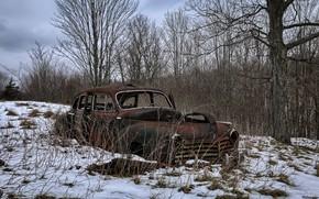 Picture winter, machine, scrap