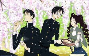Picture girl, spring, anime, art, sweets, guys, xxxHolic