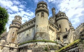 Picture castle, wall, tower, Chateau de Pierrefonds
