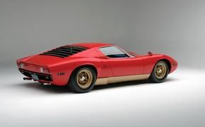Picture Red, Auto, Lamborghini, Red, Machine, Background, 1971, Car, Supercar, Lamborghini Miura, P400, SVJ, Lamborghini Miura …