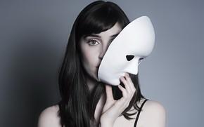 Picture girl, portrait, mask