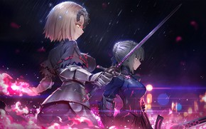 Wallpaper weapons, sword, art, Fate/Grand Order, Fate/Grand Campaign, girls, anime