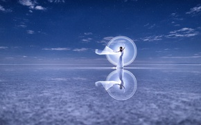 Wallpaper dress, reflection, mood, dance, Kim Henry
