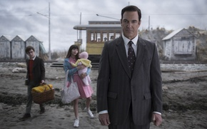 Picture girl, man, boy, tv series, Netflix, A Series of Unfortunate Events, Patrick Warburton, Lemony Snicket