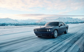 Wallpaper montain, GT, car, Dodge Challenger, snow, Dodge Challenger GT, Dodge