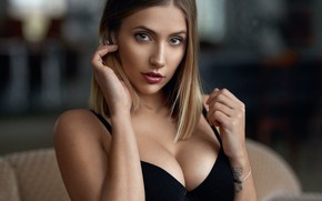 Wallpaper Alex Fetter, chest, neckline, tattoo, portrait