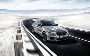 Picture speed, sedan, 2018, BMW M5, Competition